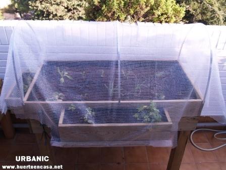 Invernadero para huerto urbano en terrazas for Mesa de cultivo casera