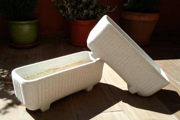 Jardineras d nde comprar de hormig n o de resina - Plaqueta imitacion piedra bricodepot ...